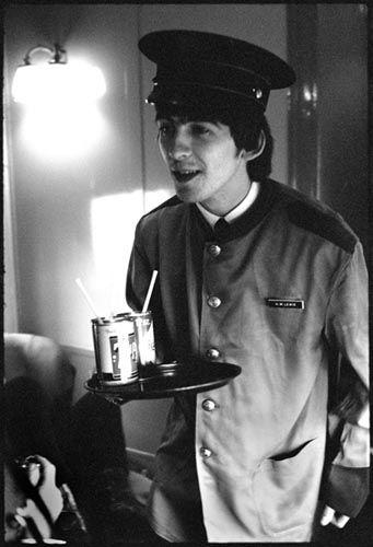 Bill Eppridge 1964 George Harrison Wearing A Train Porters Jacket On His Way To Washington