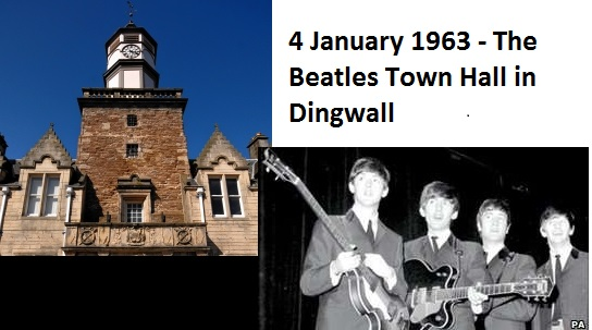 4 January 1963 - The Beatles Town Hall in Dingwall