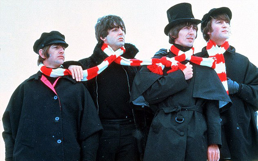 Piros-Fehér sál a Beatles Help! című filmjében