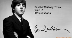 McCartney Trivia Quiz -1 - 12 Questions