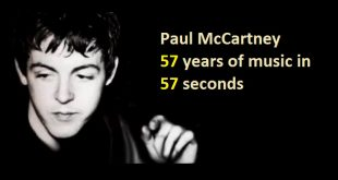 Paul McCartney - 57 years of music in 57 seconds