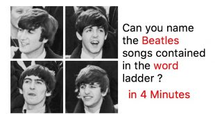 Can you name the Beatles songs contained in the word ladder