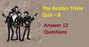 The Beatles Trivia Quiz – 8