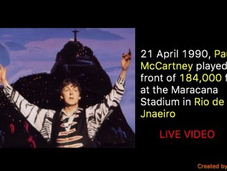 21 April 1990, Paul McCartney played in front of 184,000 fans at the Maracana Stadium in Rio de Jnaeiro (Live Video)