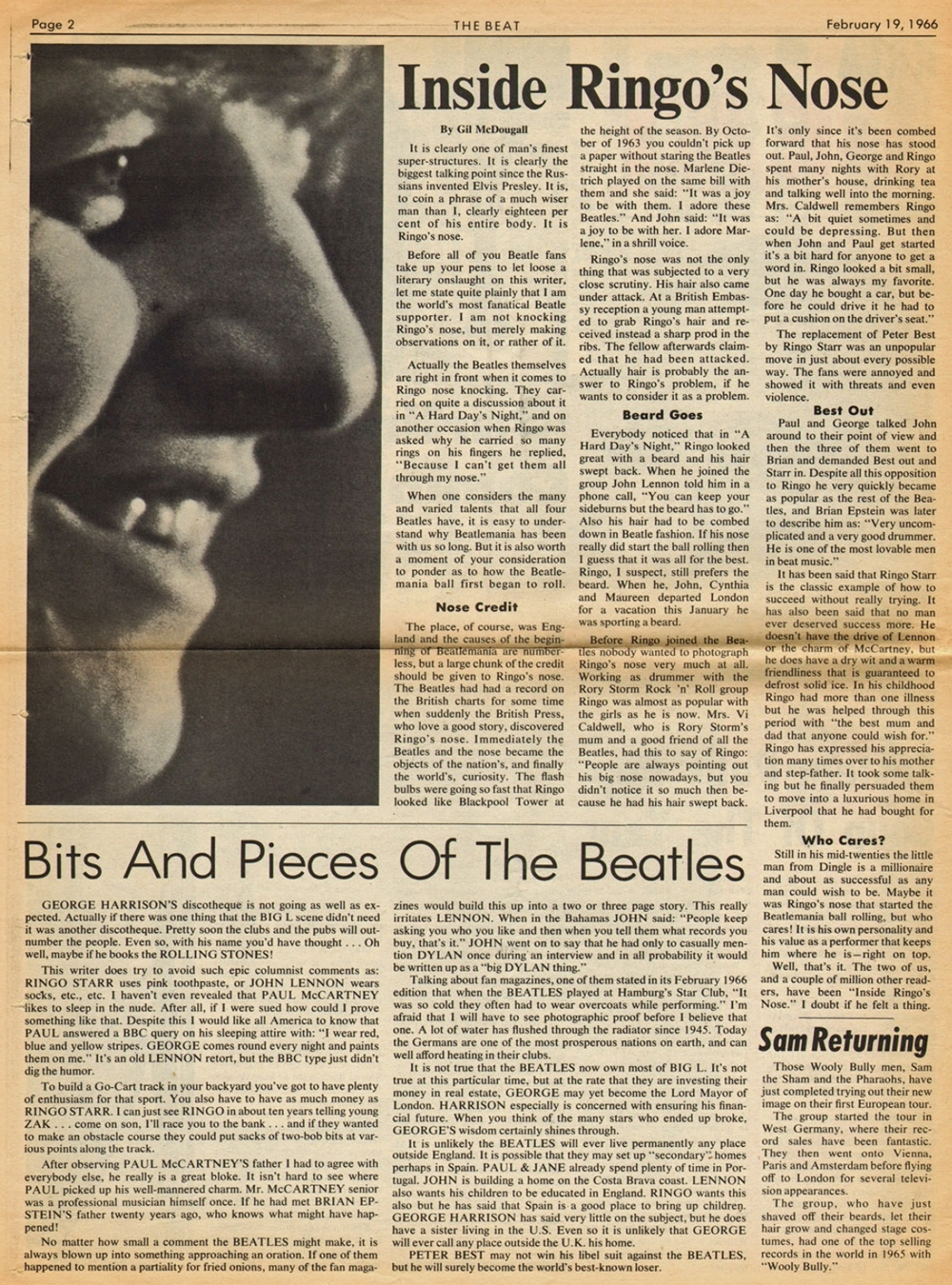 Beatles Newspaper Clippings – Part -1 – The Beatles